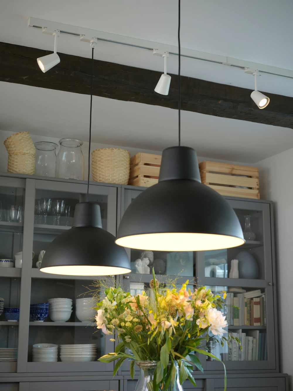 Skurup Pendant Lamp Black 15 Ikea In 2020 Traditional Dining Room Black Pendant Lamp Traditional Dining