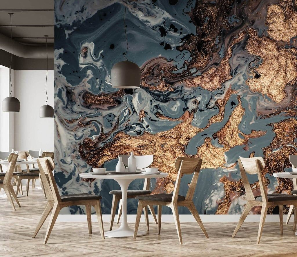 Gold Marble Wallpaper Abstract Peel And Stick Wallpaper Wall Mural Modern Home Decor Gold Marble Wallpaper Blue Marble Wallpaper Tiles Texture