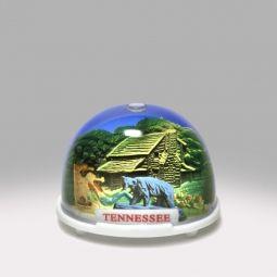 Tennessee Log Cabin Snow Globe