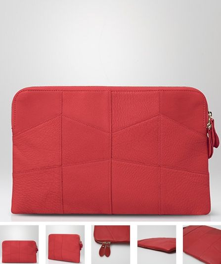 100% genuine leathe Red Clutch by Claude Laurent
