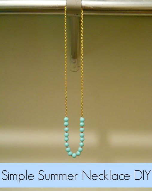 Simple Summer Necklace DIY - could use all sorts of beads