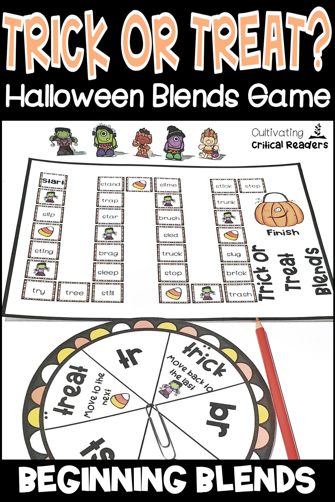 Halloween Blends Activity Blends activities, Halloween