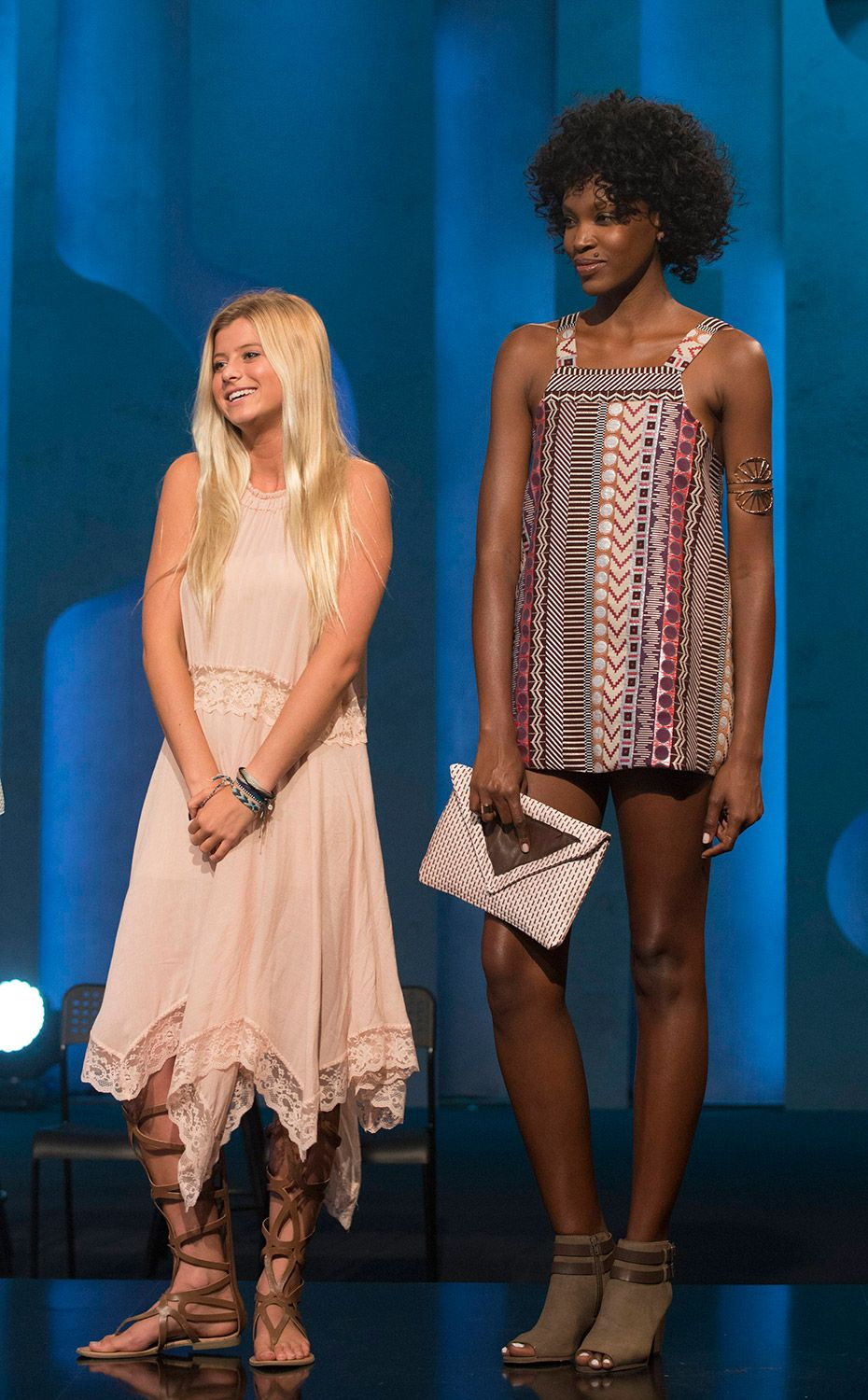 Designer Peytie with her winning look from this week s episode of Project  Runway Junior. a5a9c0292e5
