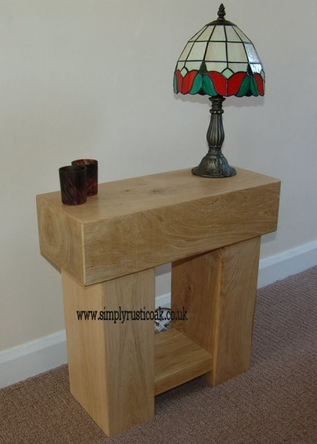 Rustic Oak Beam Small Occasional Table