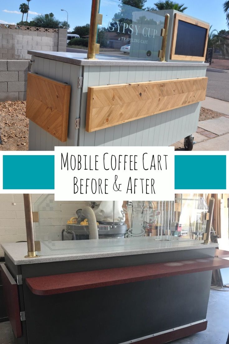Mobile Coffee Cart Makeover - Before & After