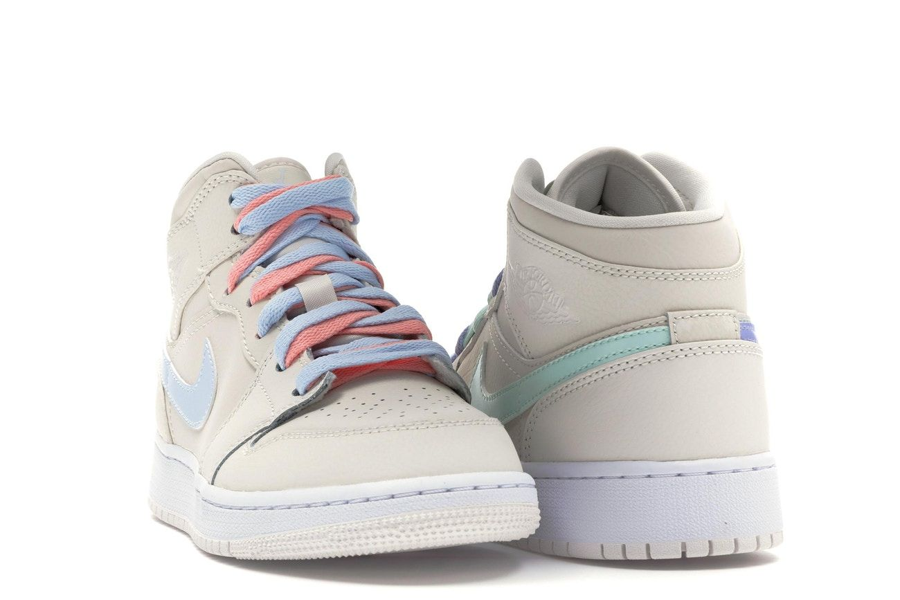 Jordan 1 Mid Multi Color Swoosh Phantom Gs In 2021 Nike Air Shoes Jordan 1 Mid Jordans