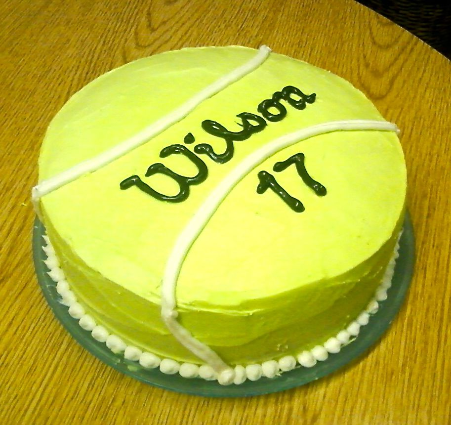 Tennis Cake #wilson #birthday | cake | Pinterest | Tennis ...