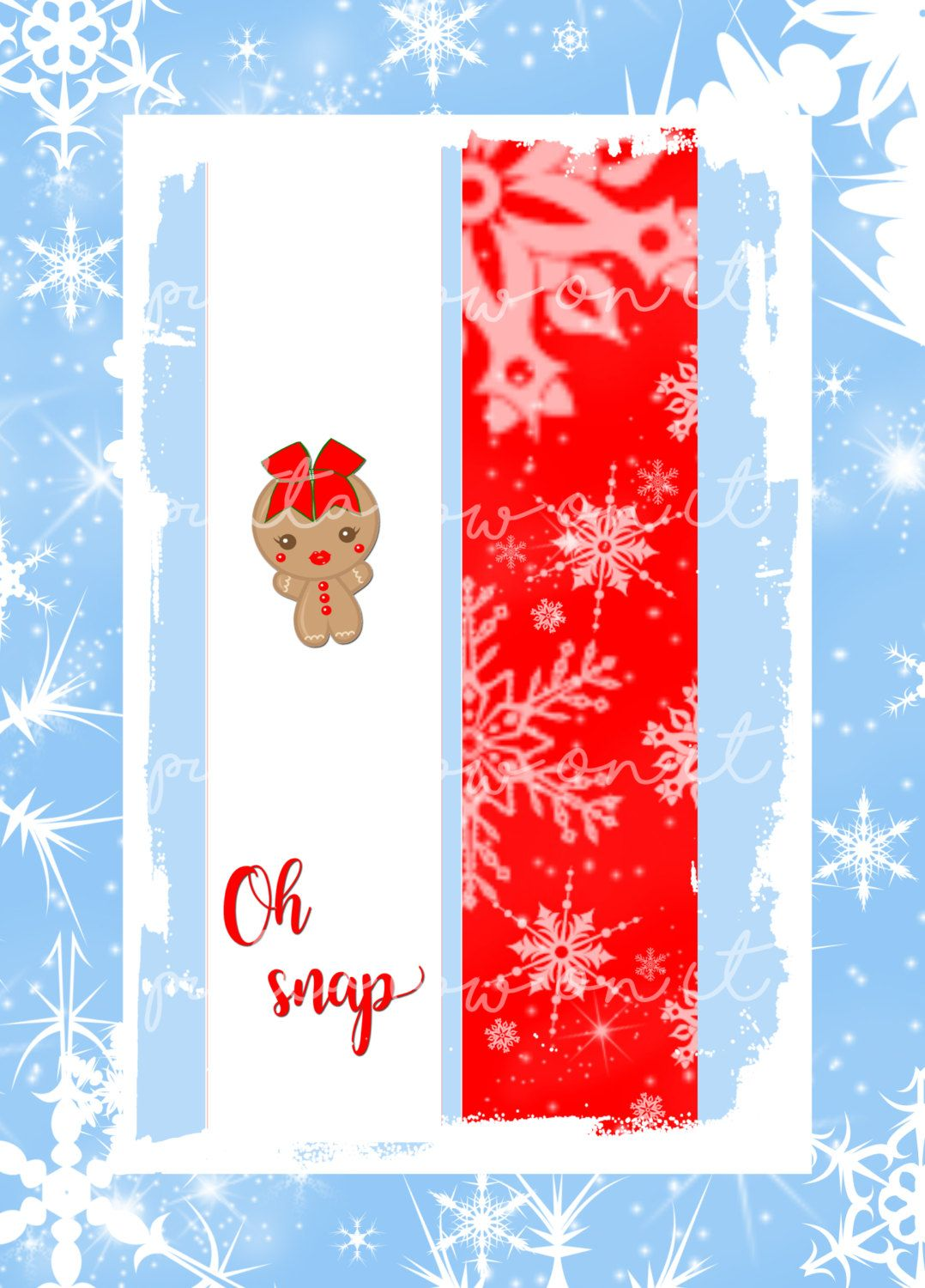 Gingerbread Girl Oh Snap Sublimation Cheer Bow Strips Download By