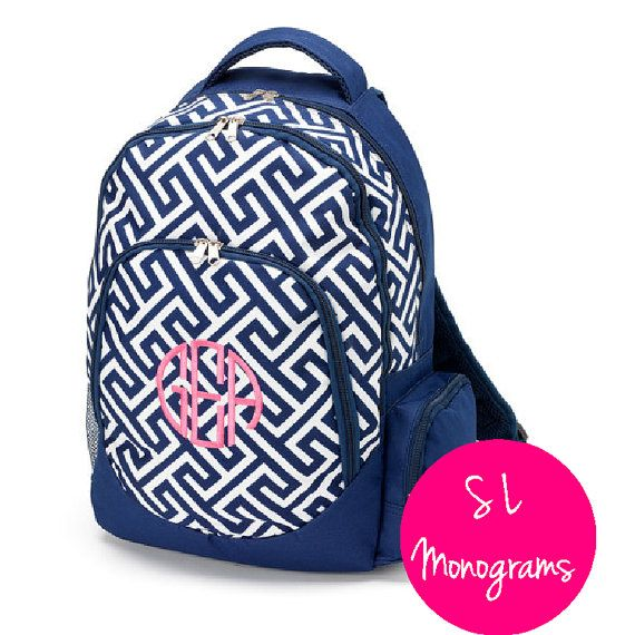 Hey, I found this really awesome Etsy listing at https://www.etsy.com/listing/237029955/clearance-monogram-navy-greek-key