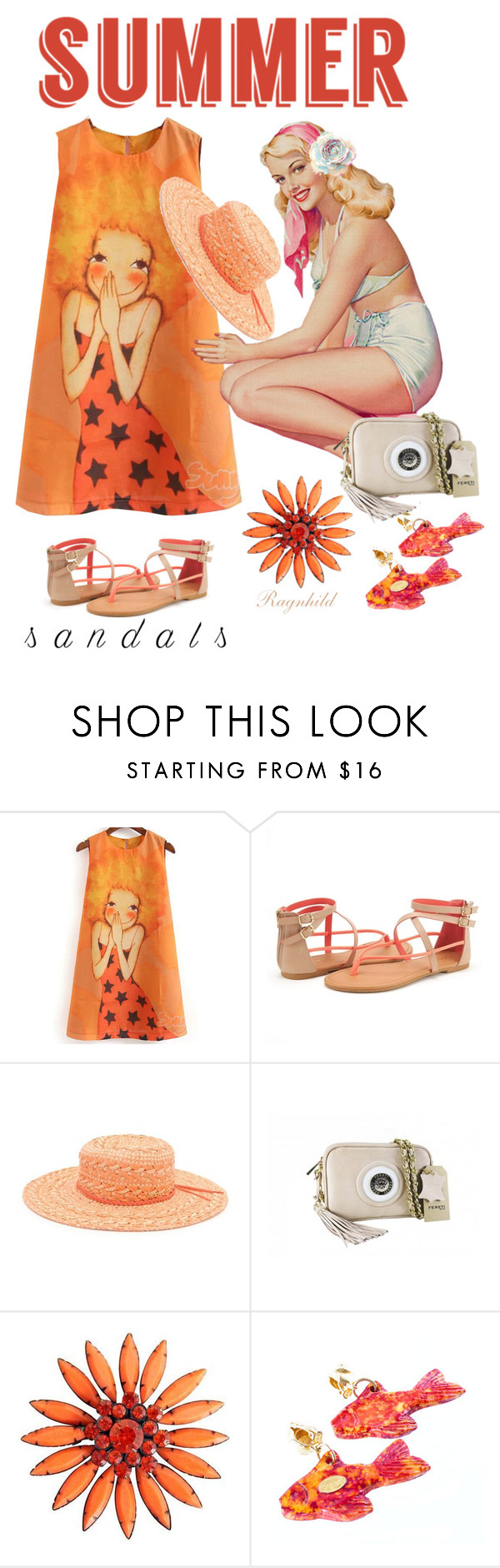 """""""The Cutest Summer Sandals"""" by ragnh-mjos ❤ liked on Polyvore featuring Roxy and Yves Saint Laurent"""