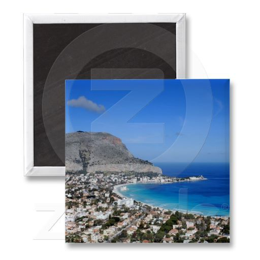 Mondello magnet - A wonderful shot from Mondello in Palermo for your magnet.