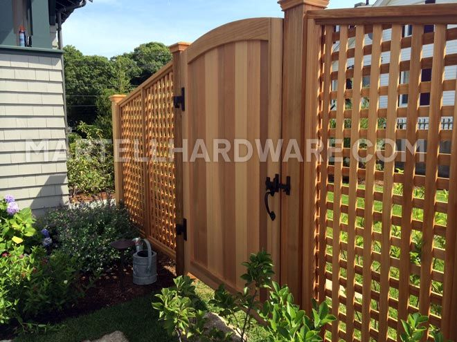 Single Arched Gate Featuring Coastal Bronze Hardware Manchester