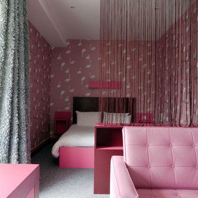 Best Bold Colour Bedrooms Bedroom Decor Faux Walls Flamingo 400 x 300
