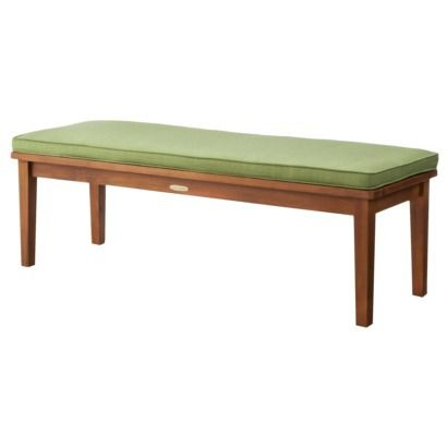 Smith Hawken Brooks Island Wood Patio Bench 54 Long Same Length As Love Seat 16 Or 19 High Maybe Includes Cushion 199 00