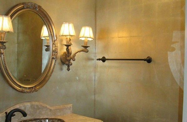 Metallic Wandfarbe für ein luxuriöses Ambiente in Ihrer Wohnung - farbe fürs badezimmer