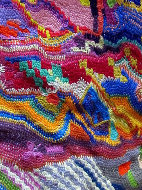Dettaglio pannello lana di Patrizia Bonini Mingori