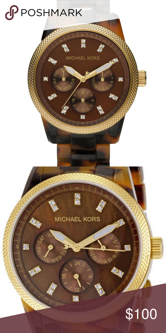 0101b4892588 Michael Kors Tortoise Shell Watch - MK5038 - Tortoise Shell Watch w  gold  detailing - Included  Extra links for band   original packaging (box) - A  few ...