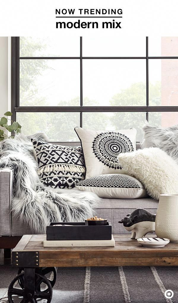 The Kerchum Residence Is A Perfect Mix Of Modern: Easiest Way To Give Your Space A Fresh Look For Fall? Throw Pillows—and Lots Of Them! The Clean