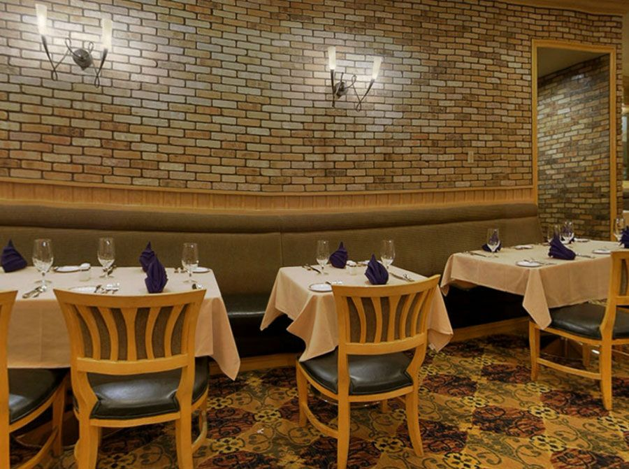 American Fine Dining Restaurant Interior Design Of Cortez Room Las Vegas Brick Walls