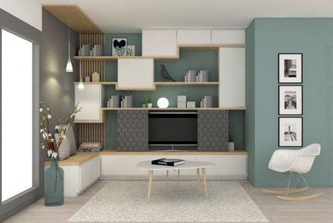 petit salon bibliothèque - Recherche Google Salon moderne