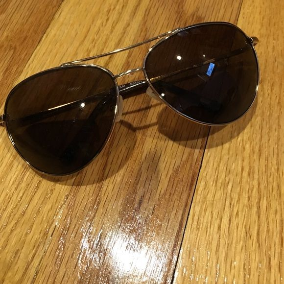 fossil aviators brown fossil aviators *will send with a hard eyeglass case to avoid being broken* Fossil Accessories Sunglasses