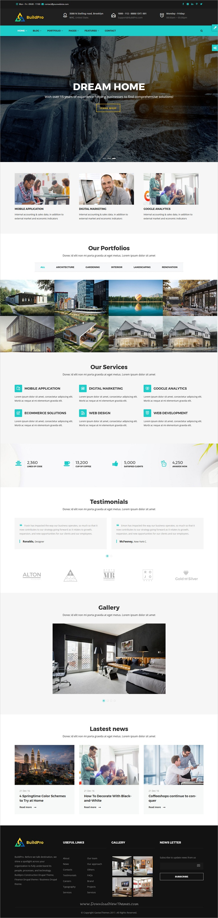 BuildPro Construction Drupal 8 Theme