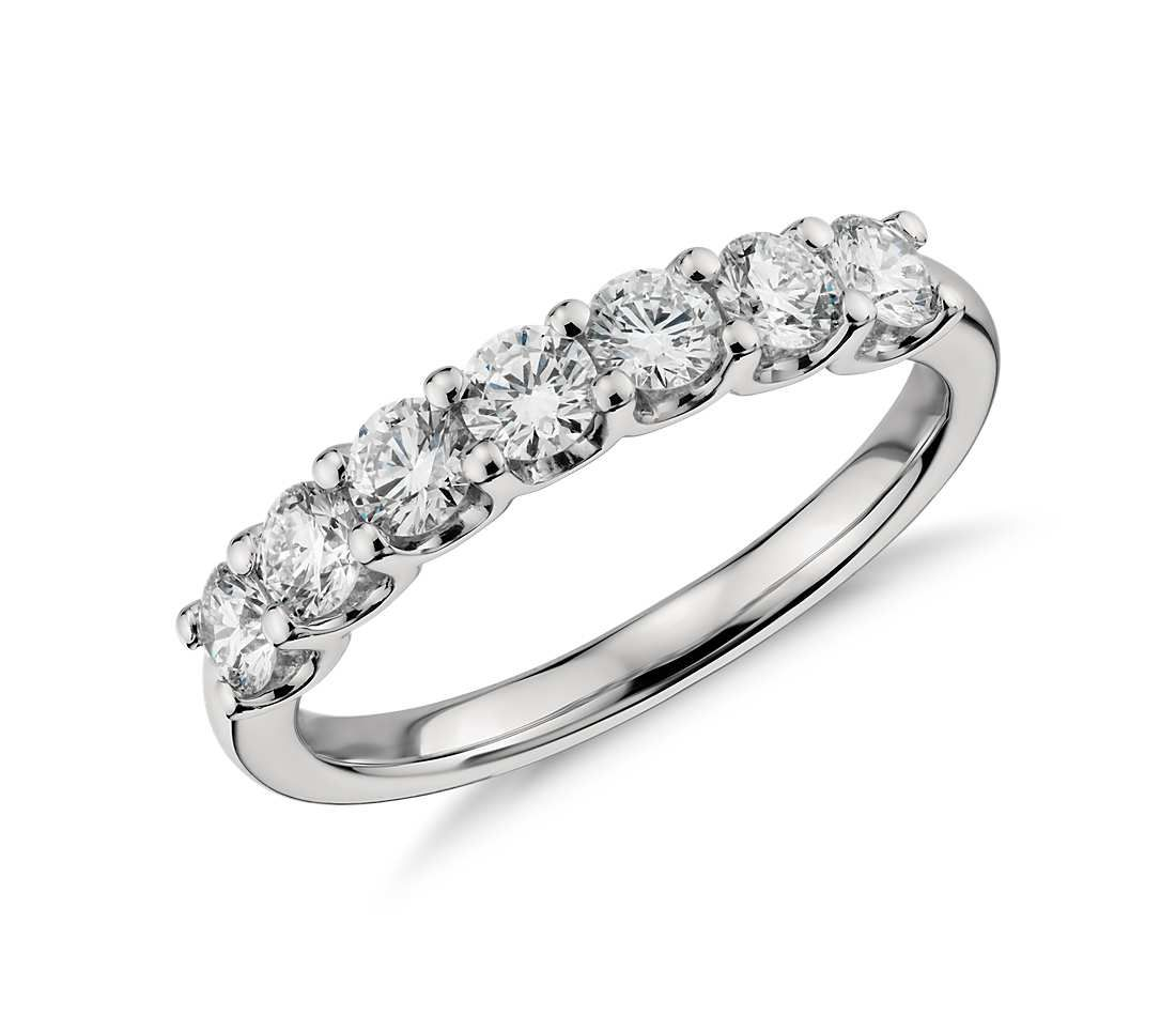 Superb Luna Seven Stone Diamond Ring In Platinum (1 Ct Tw)