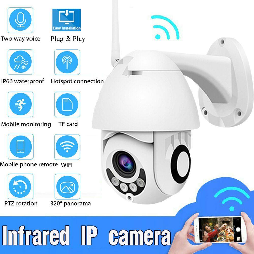 HD1080P Wifi PTZ IP Security Camera Speed Dome Waterprof TF