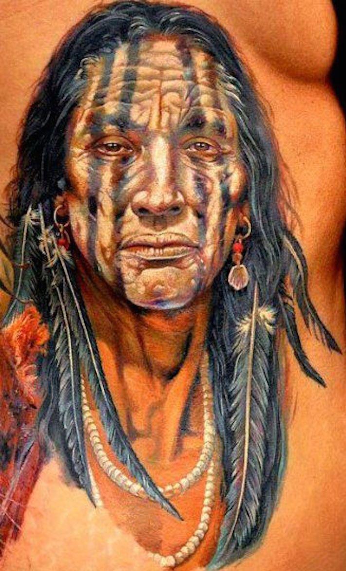 Native american tattoo recherche google painting for Native american warrior tattoos
