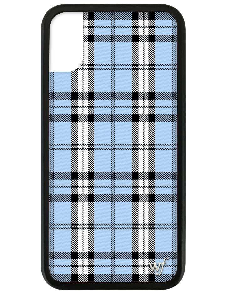 Blue Plaid Iphone X Xs Case Wildflower Phone Cases Disney Phone