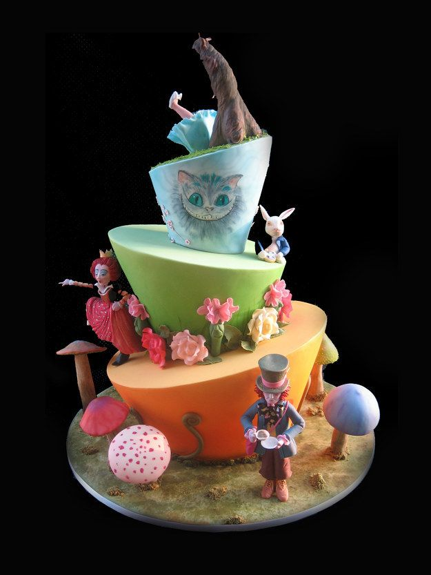 Serve Up A Surreal Alice Inspired Cake Mad Hatter Cake Alice