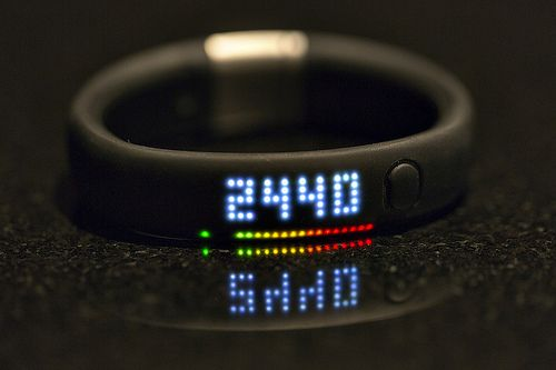 The Nike Fuel Band device and mobile application share