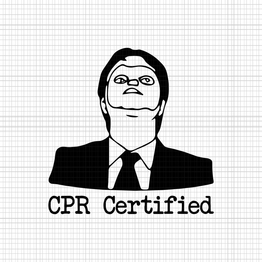 Cpr Certified Svg Cpr Certified Png Cpr Certified Dwight Cpr Certified Dwight Dummy Mask Svg Eps Dxf Png Dwight Cpr Silhouette Diy Svg
