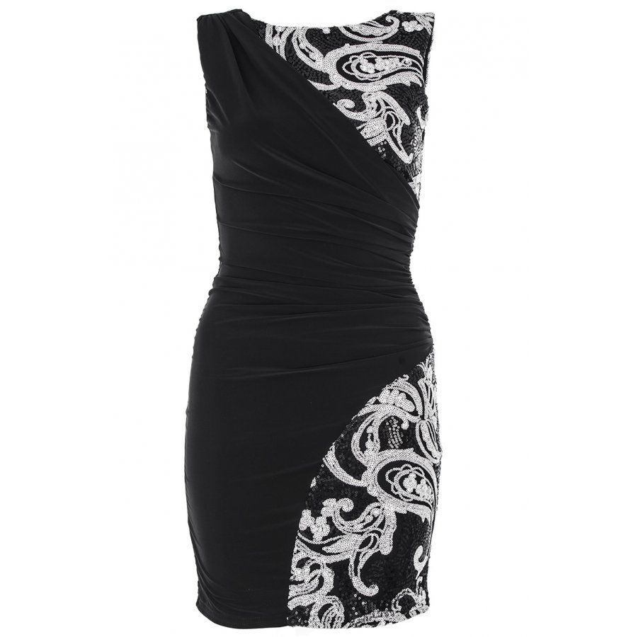 fe154ae4ee6 Clothing Black And White Dress