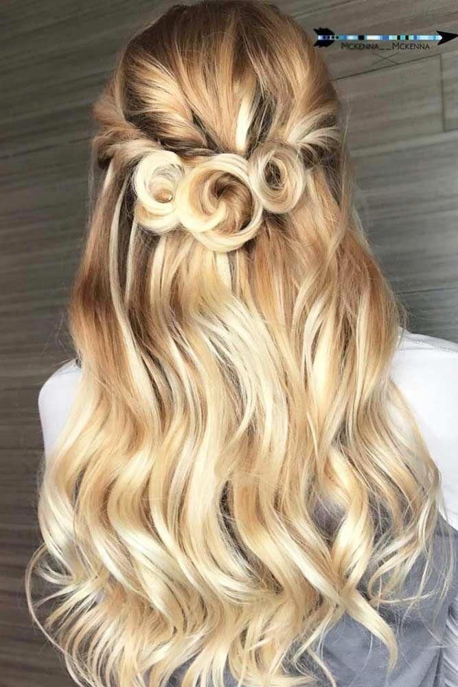 Cute Half Up Half Down Prom Hairstyles picture2 #ShortPromHairstyles | Prom hair, Long hair ...