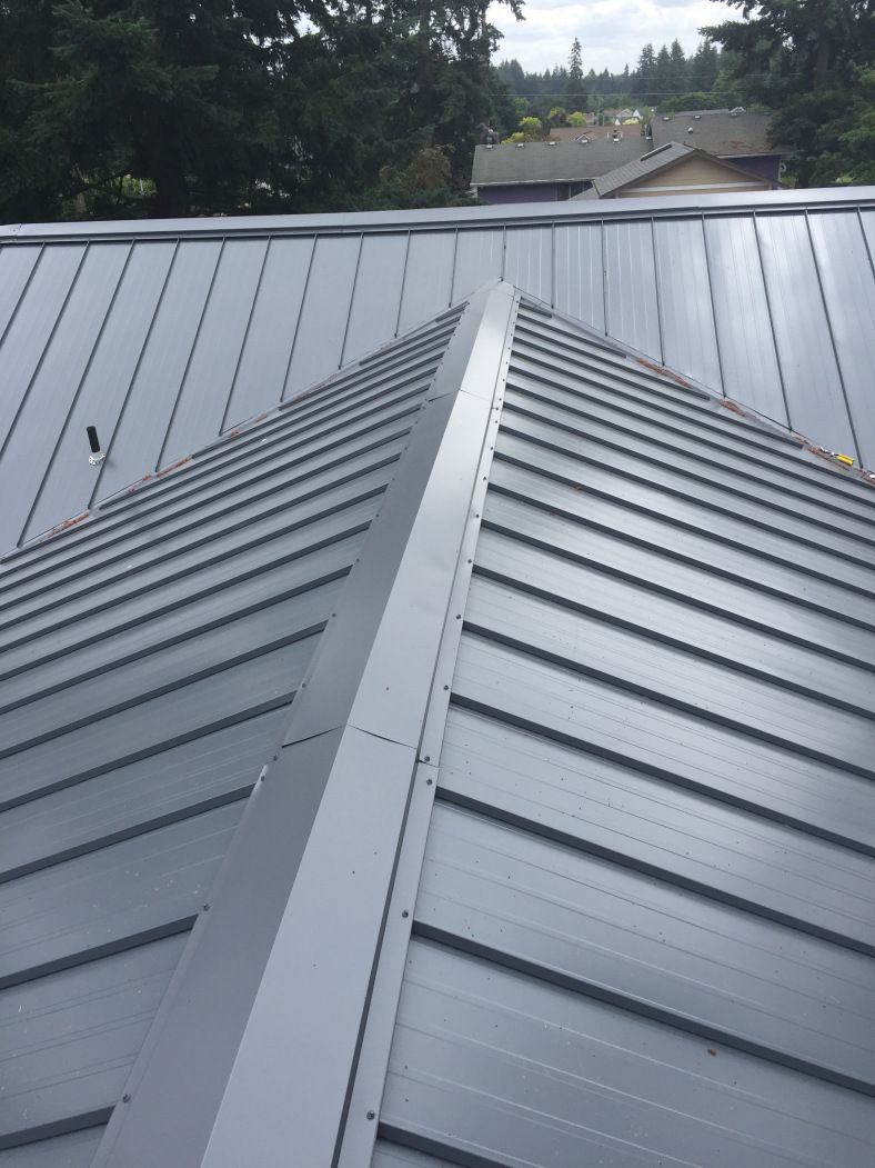 Asc Skyline Metal Roof Top Guard Roofing Llc Slate Gray Metal Roof Metal Roof Colors Fibreglass Roof