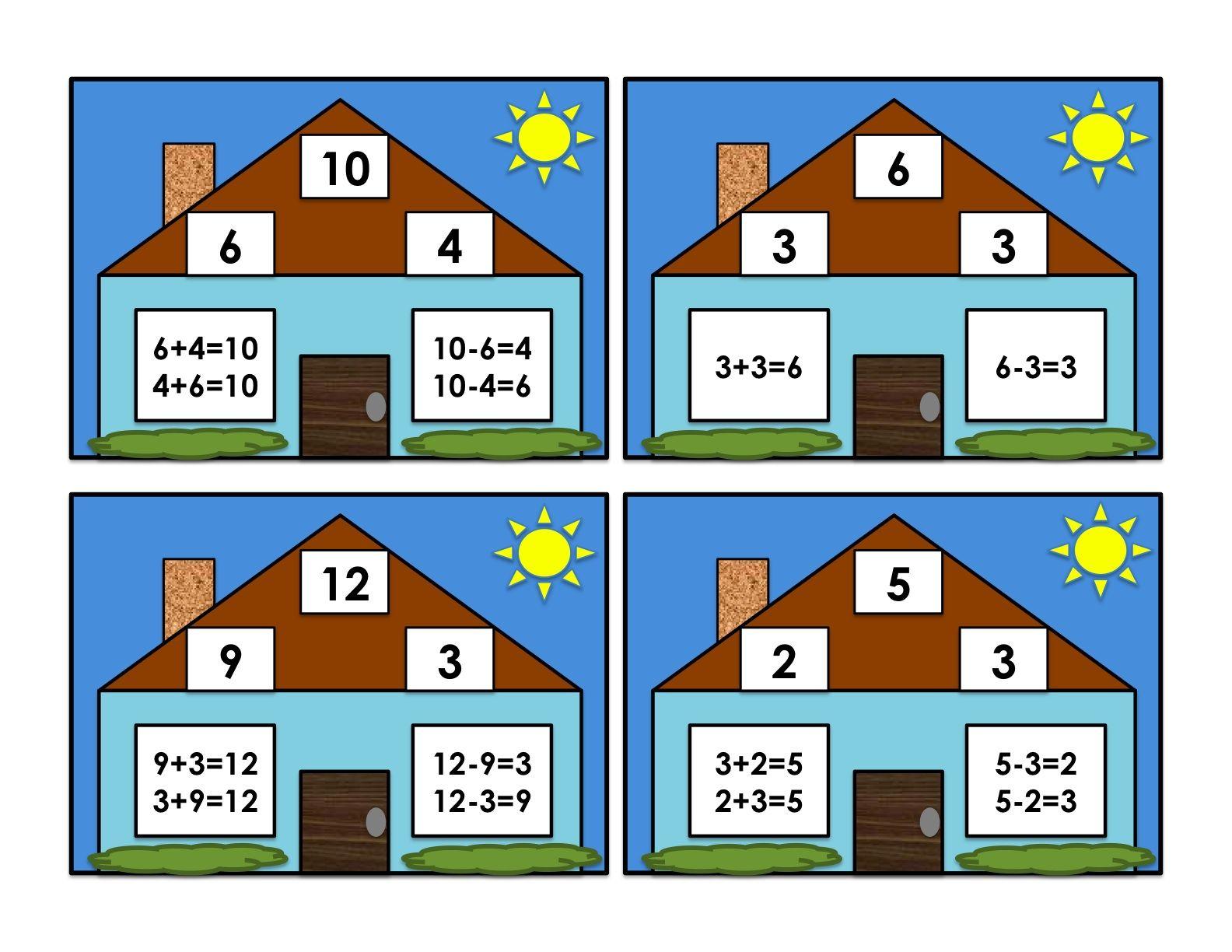 First Grade School Box Fact Families