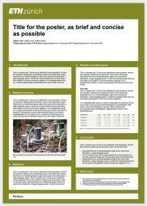 Scientific Poster Example Portrait Format Ziyaret