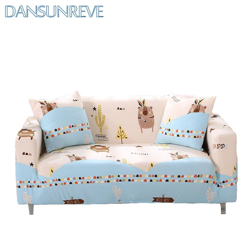 Stretch Slipcover Sofa Cover Corner L Shaped Cover Sofa Single Seater Cover Cartoon Stretch Bear Print Covers Furnitur Sofa Covers Single Sofa Slipcovered Sofa
