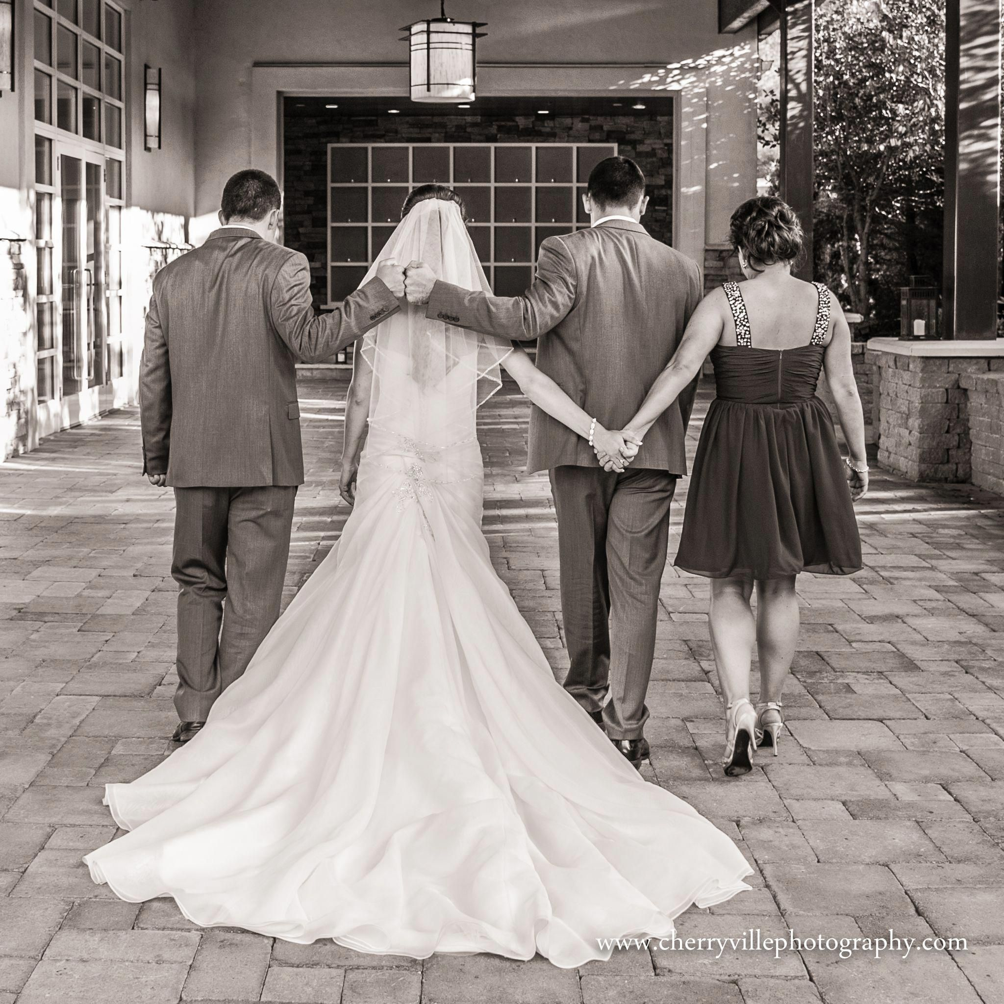 Such a sweet picture of the Bride and Groom with the Best Man and Maid of Honor… #bridepictures