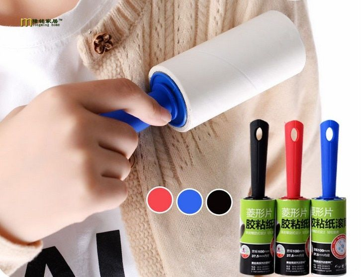 Pet Lint Hair Remover Clothes Sticky Dust Roller Brush Cleaner Sticky Paper