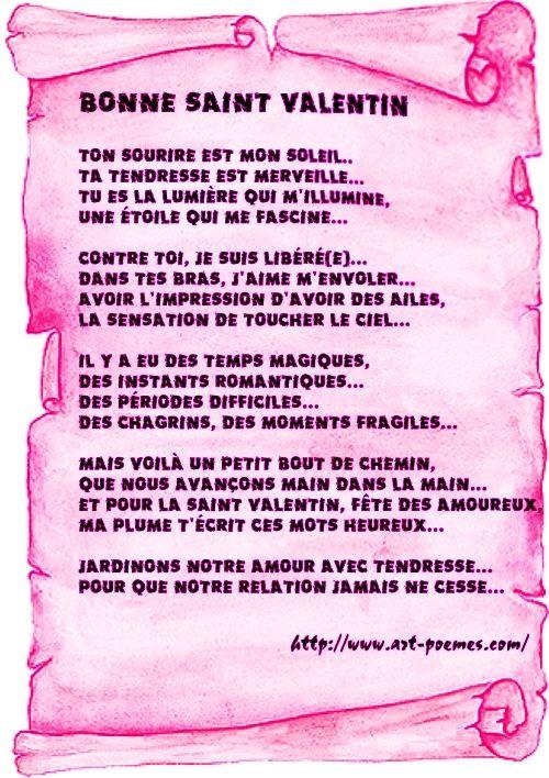 Poeme Saint Valentin Français 3 Eso