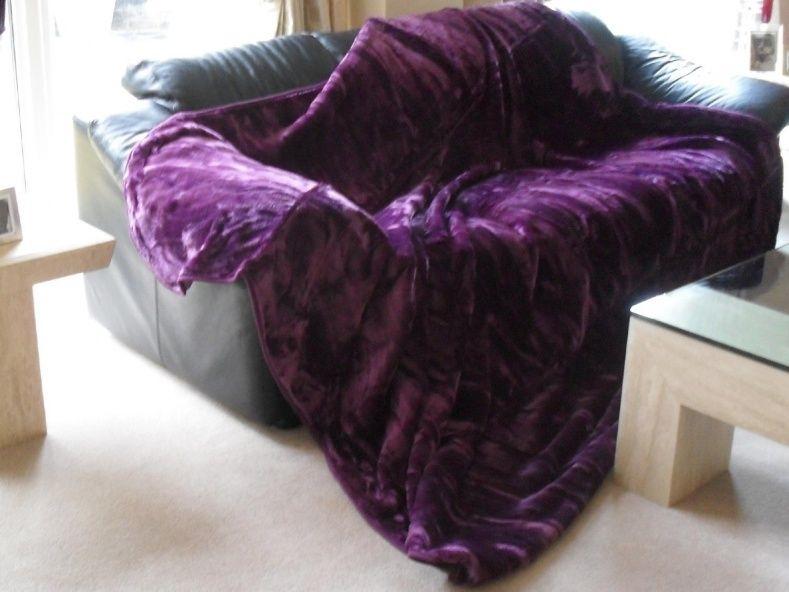Purple Throws For Sofas
