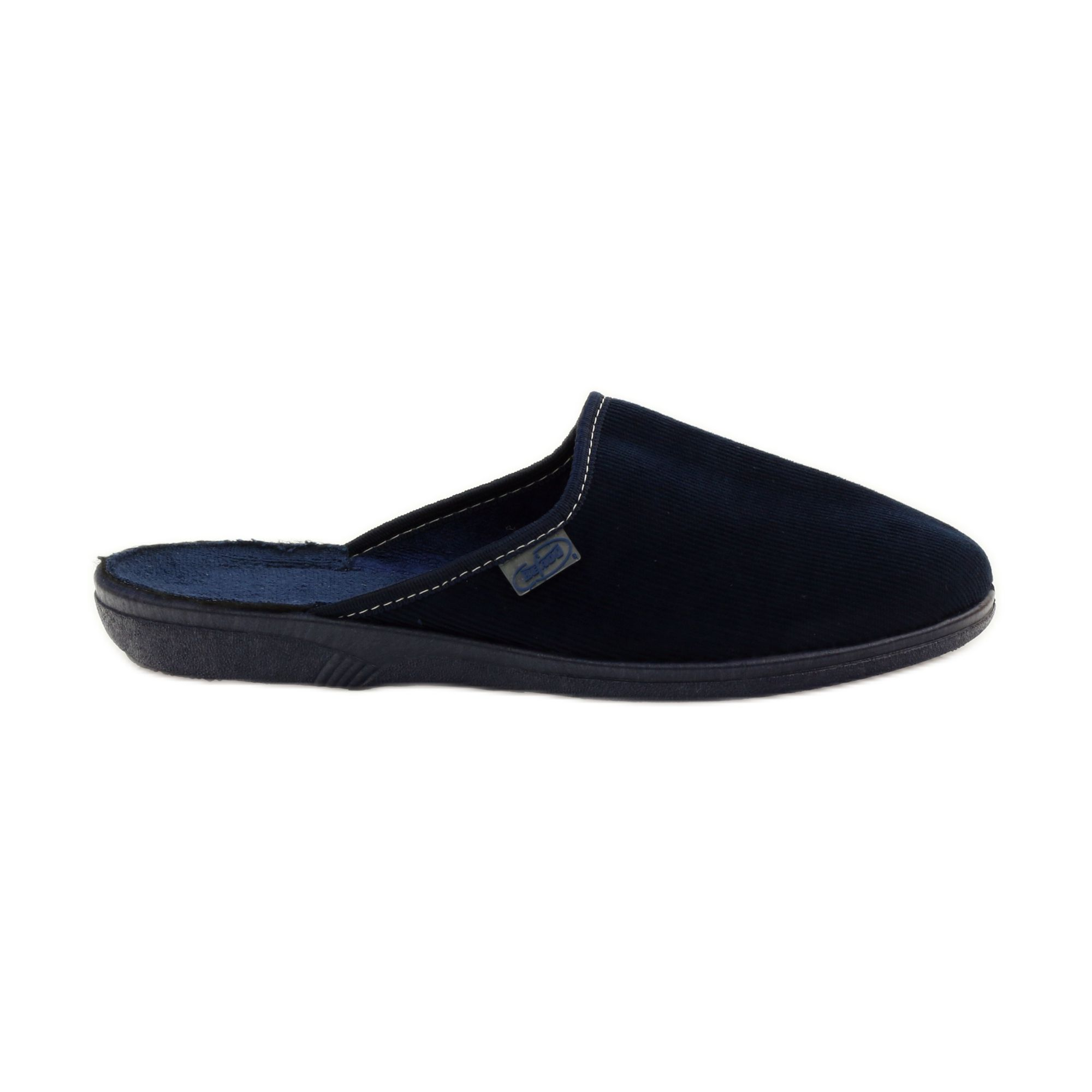 Navy Corduroy Slippers Befado 201q033 Homemade Shoes Womens Slippers Slippers