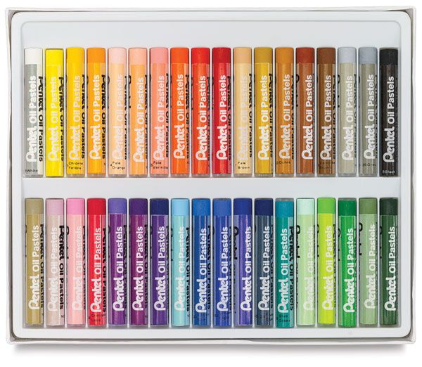 Pack 50 Pentel Oil Pastels Bright Assorted Colours