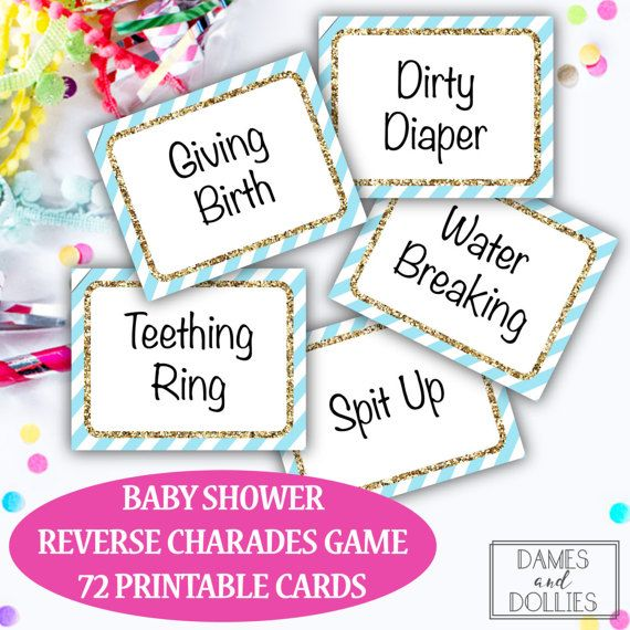 baby shower game baby shower charades cards printable baby shower