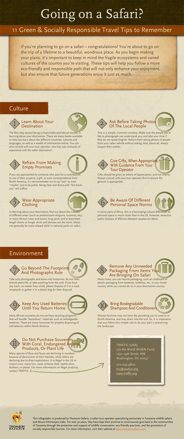 11 Green & Socially-Responsible Safari Travel Tips