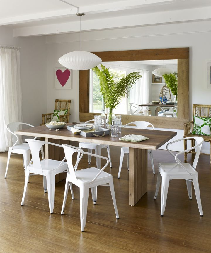 Living And Dining Room Makeover  Dream House  Pinterest  Bright Glamorous White Wooden Dining Room Chairs Design Decoration