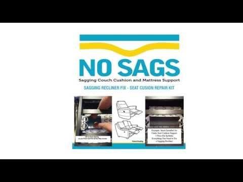 12 sagging recliner support seat cushion repair kit youtube