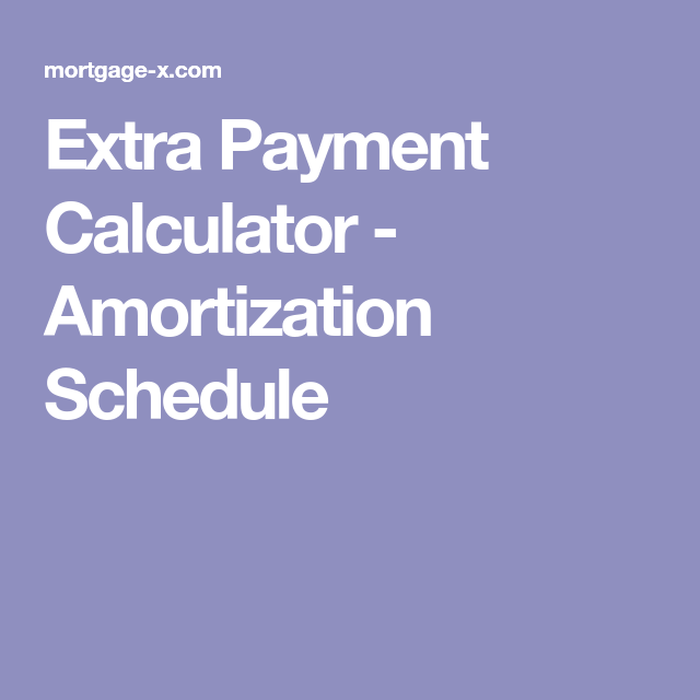 Extra Payment Calculator  Amortization Schedule  Money And
